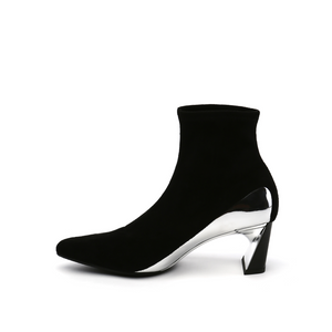 molten flow ankle boot mid black in