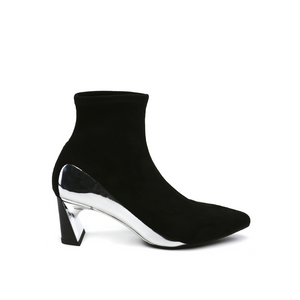 molten flow ankle boot mid black out