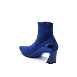 molten flow ankle boot mid cobalt blue angle in