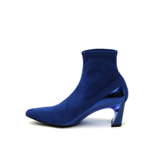 molten flow ankle boot mid cobalt blue in