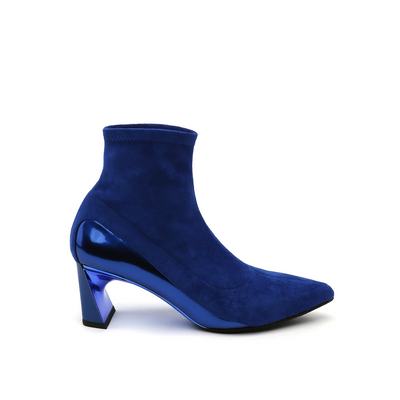 molten flow ankle boot mid cobalt blue out view