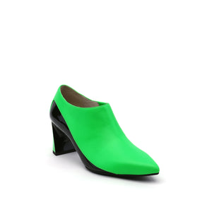 molten flow bootie mid neon green angle out