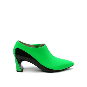 molten flow bootie mid neon green out