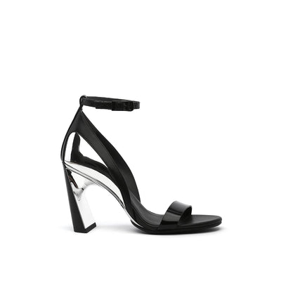 molten flow sandal hi black out view