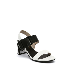 molten sandal mid white angle out