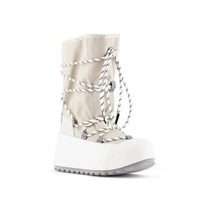 polar calf boot off white angle out view