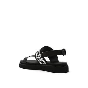 pop sandal lo black angle in view