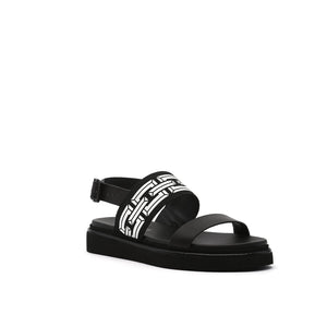 pop sandal lo black angle out view
