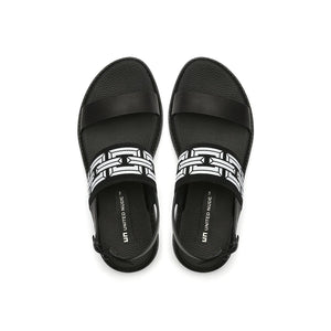 pop sandal lo black top view
