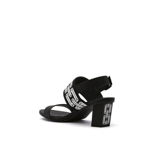pop sandal mid black angle in view