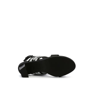 pop sandal mid black bottom view