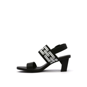 pop sandal mid black in view