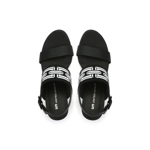 pop sandal mid black top view