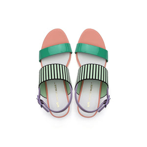 pop sandal mid pastel top view