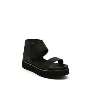 rico sandal black mix angle out view