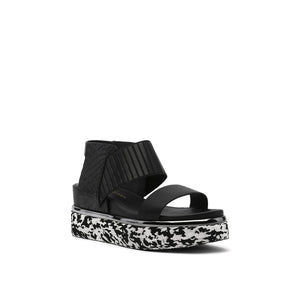 rico sandal black angle out view