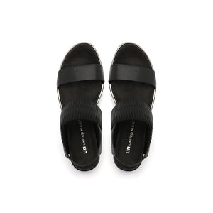 rico sandal black mix top view
