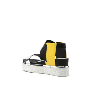 rico sandal yellow mix angle in view
