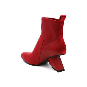 rockit pure bootie deep red angle in
