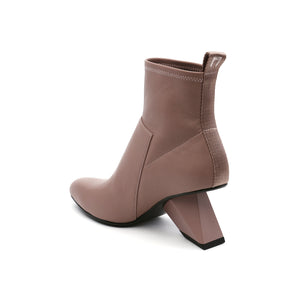 rockit pure bootie dusty pink angle in