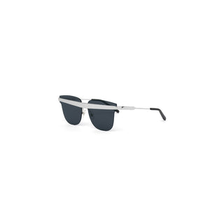 Delta Sunglasses Silver + Black angle out view
