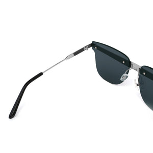 Delta Sunglasses Silver + Black angle in view