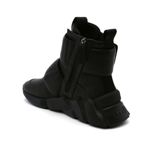 space kick stout mens black angle in