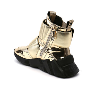 space kick stout mens gold angle in