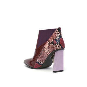 spark bootie hi burgundy angle in view