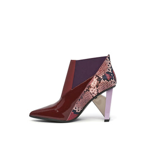 spark bootie hi burgundy in view