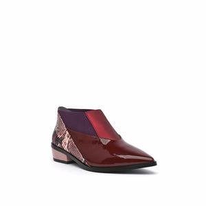 spark bootie lo burgundy angle out view