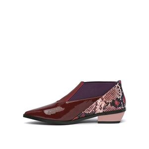 spark bootie lo burgundy in view