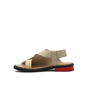 square sandal lo nude in view