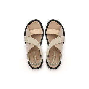 square sandal lo nude top view