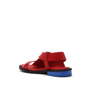 square sandal lo rio red angle in view