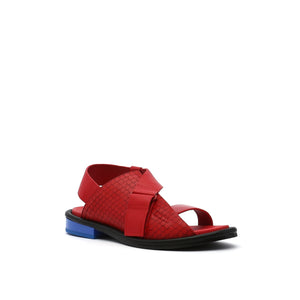 square sandal lo rio red angle out view