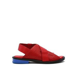 square sandal lo rio red out view