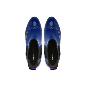tetra chelsea boot cobalt blue top view