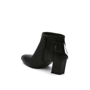 twist flow bootie black angle in