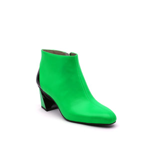 twist flow bootie neon green angle out