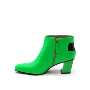 twist flow bootie neon green in