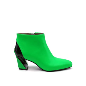 twist flow bootie neon green out