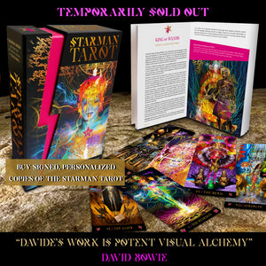 Signed and personalized STARMAN TAROT decks