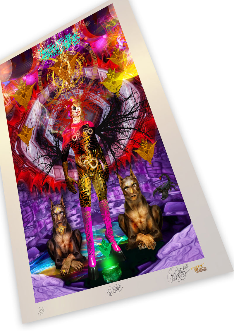 THE DEVIL Limited Edition Museum Quality Print (spacial metallic)