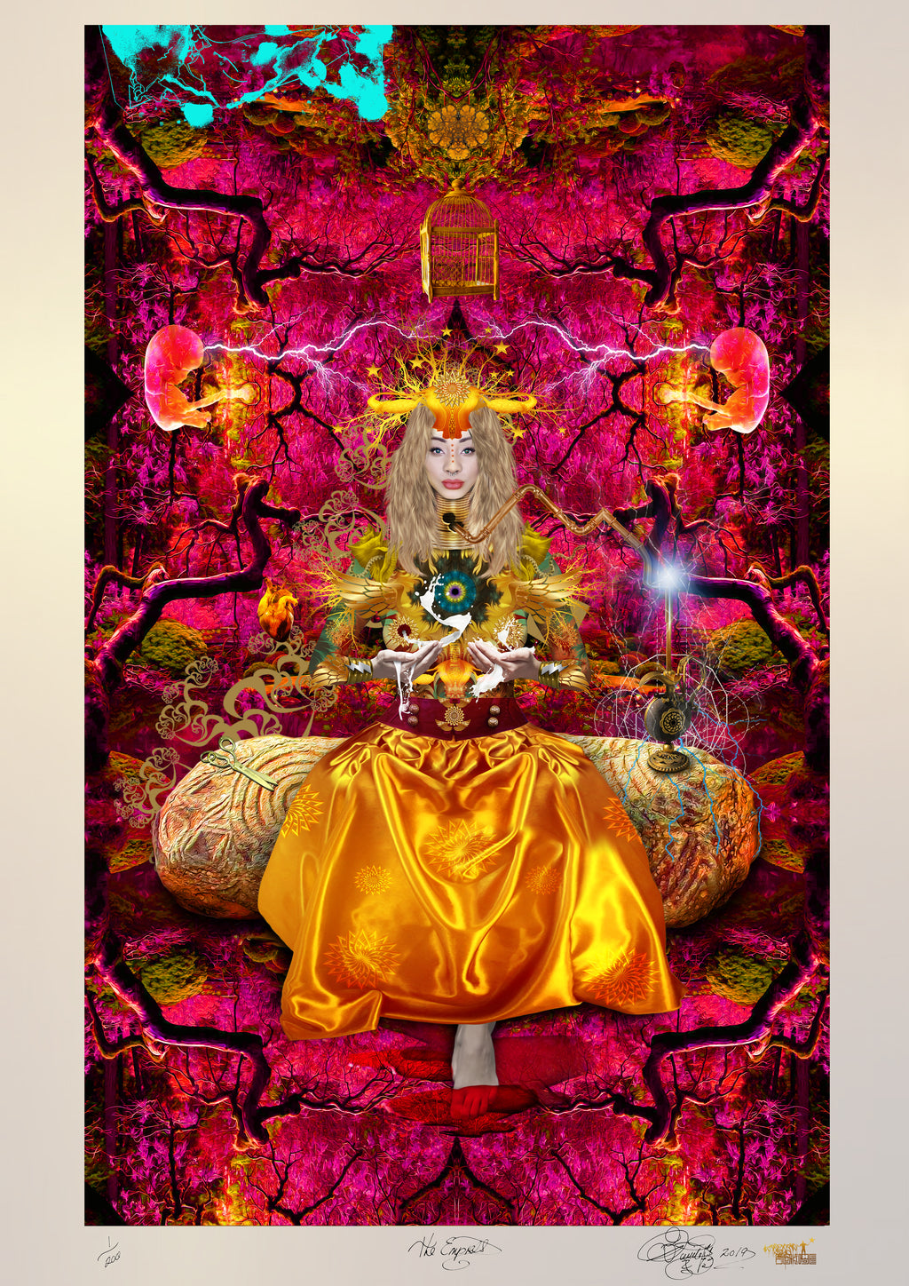 THE EMPRESS Limited Edition Museum Quality Print (Spacial Metallic)