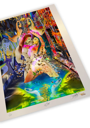 THE LOVERS Limited Edition Museum Quality Print (Spacial Metallic)