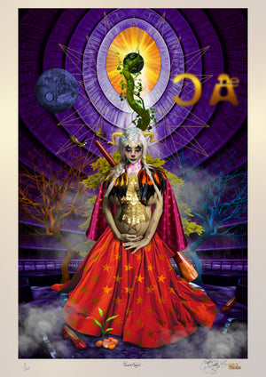 THE PRINCESS OF PENTACLES Limited Edition Museum Quality Print (Spacial Metallic)