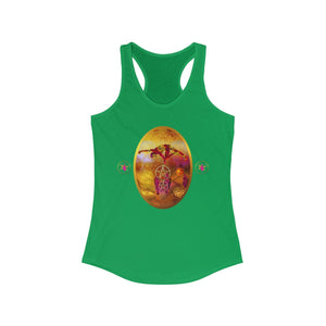 STARWOMAN - THREE OF PENTACLES - Racerback Tank Tee