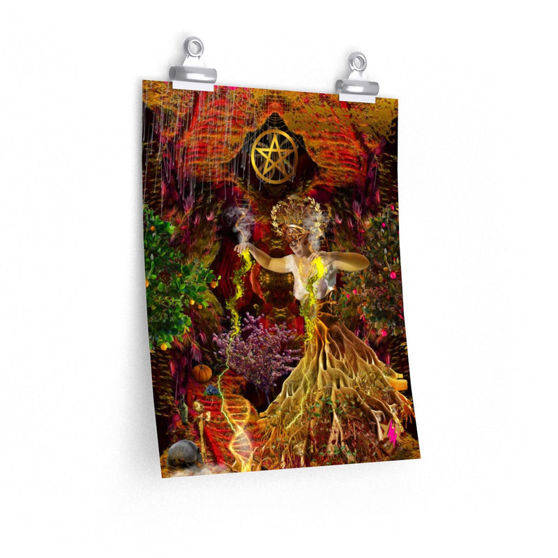 QUEEN OF PENTACLES - Premium Matte Poster