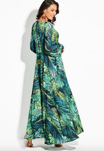 Tropical Beach Vintage Maxi Dress